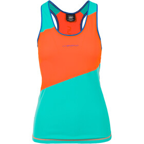 La Sportiva Drift Top sin Mangas Mujer, lily orange/aqua